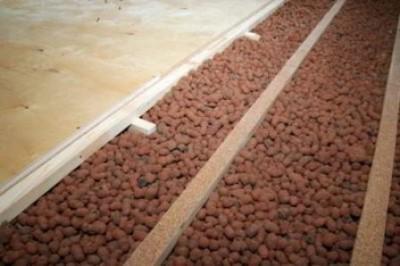 Утепление керамзитом деревянного пола