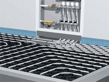 Распределительный коллектор системы водного теплого пола