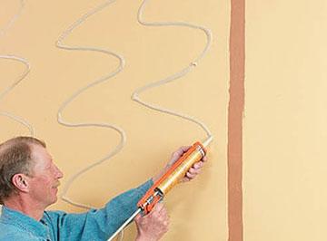 Монтаж стеновой панели на клей