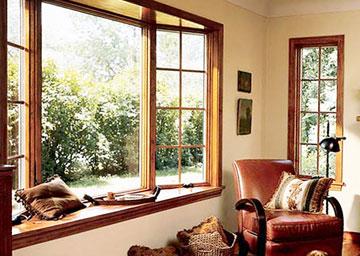 Деревянные стеклопакеты в частном доме