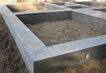 Ленточный фундамент под строительство дома
