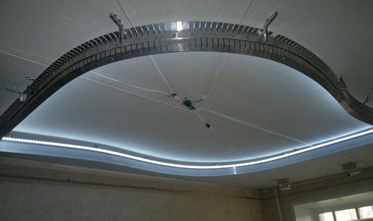 Алюминиевый багет для натяжного потолка