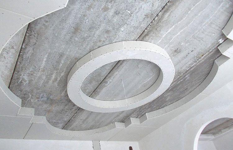 Монтаж гипсокартона натяжного потолка