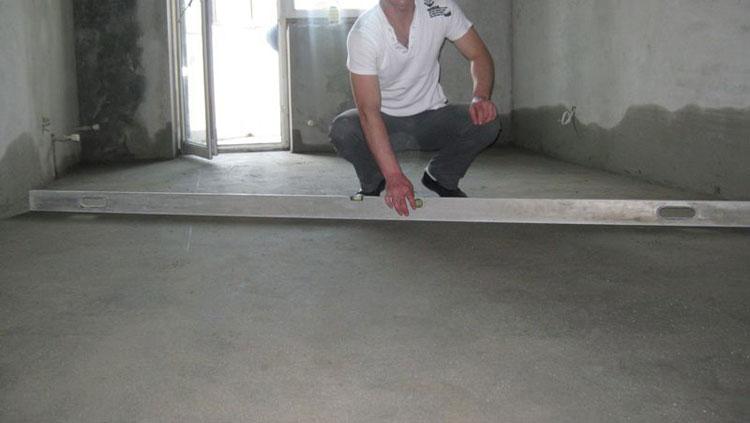 Устройство бетонной стяжки под паркет