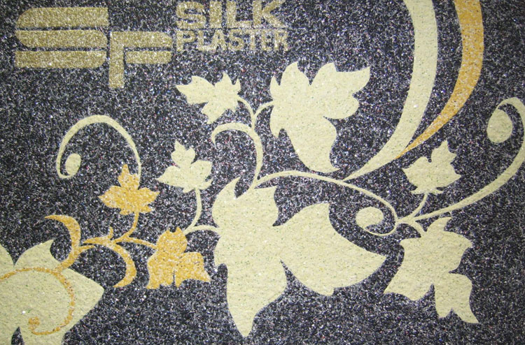 Презентация жидких обоев Silk Plaster