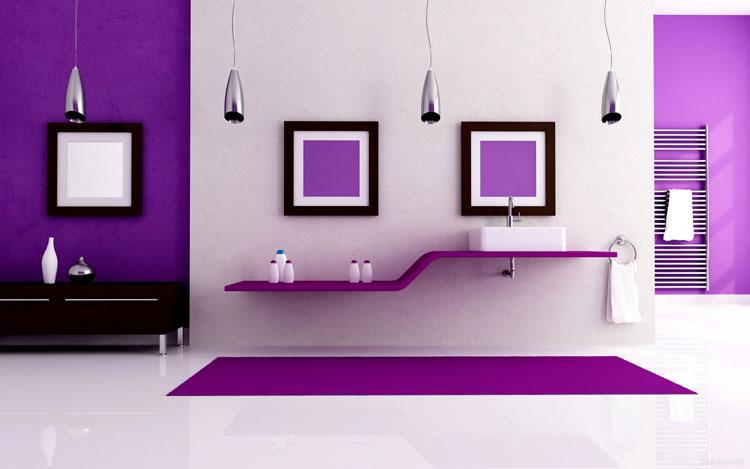 Декорирование стен ванной жидкими обоями