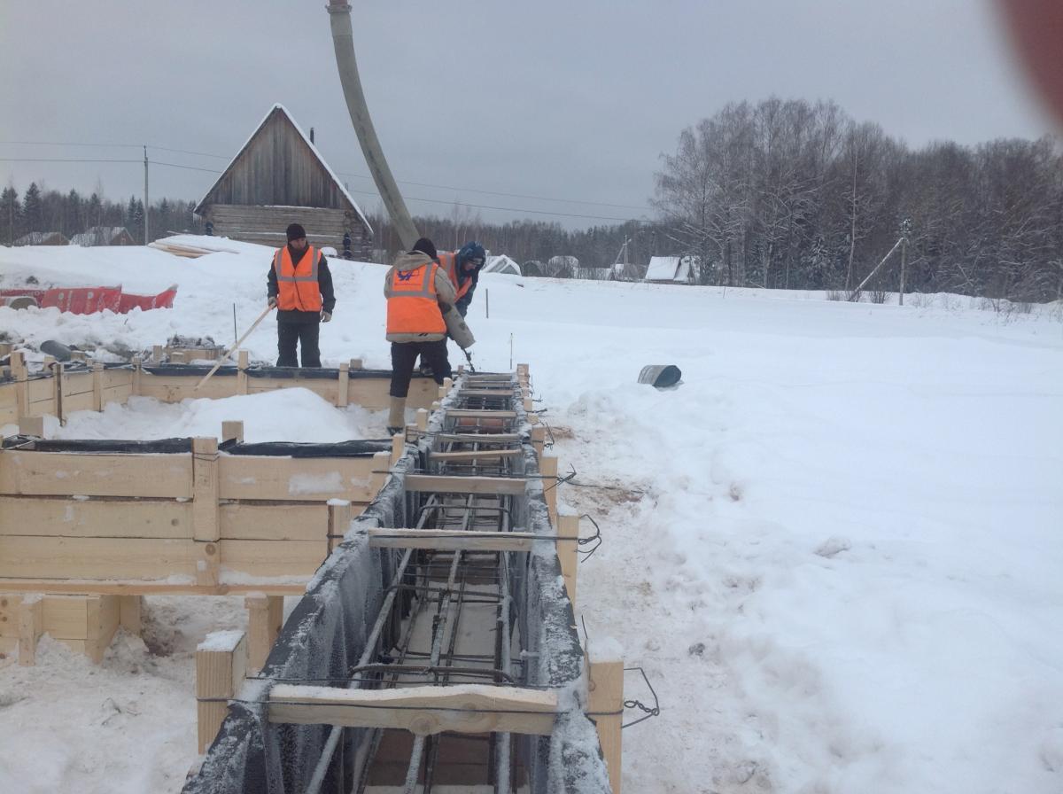 что посмотреть как в мороз халить бетон в сваи Работа для школьников
