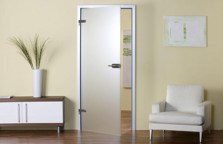 Стеклянная матовая дверь