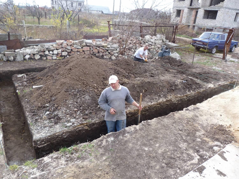Как копать фундамент под дом какой глубины