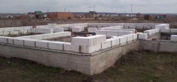 фундамент для дома из пенобетона