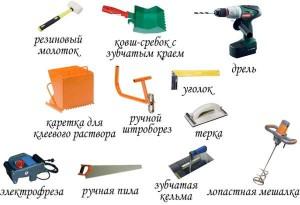 Kladka gazosilikatnyx blokov instrumenty