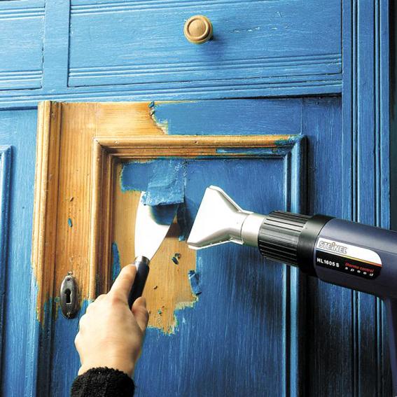 как убрать краску с двери в домашних услови¤х