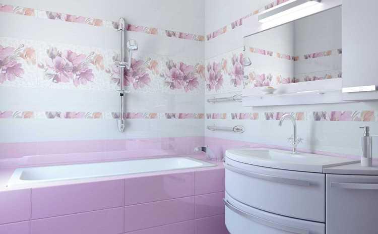 Ванна, оформленная в одной цветовой гамме