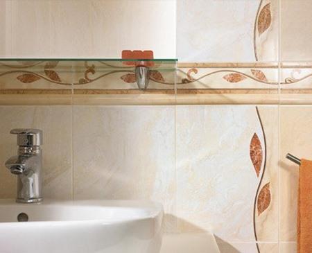 Классический вариант отделки ванной