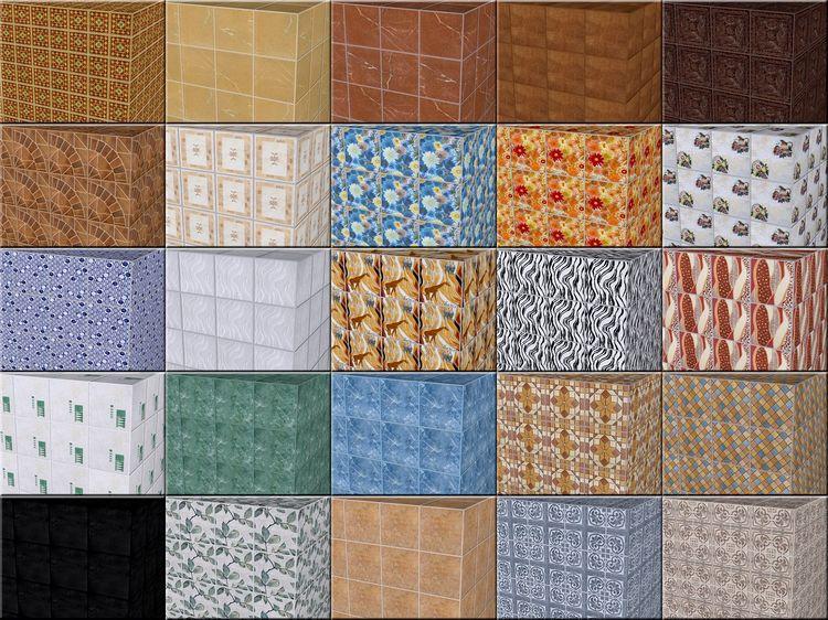 Керамические плитки в разных тонах