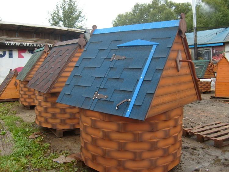 готовый домик для колодца