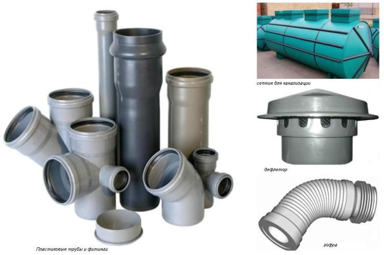 материалы для канализации