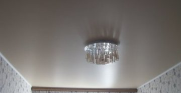 Матовый и глянцевый потолок для квартиры