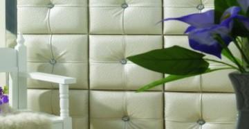 Мягкие стеновые панелиотлично смотрятся в интерьере
