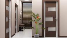 Установка межкомнатных дверей из экошпона в доме