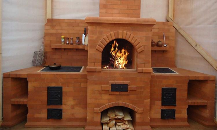 печь из лего кирпича