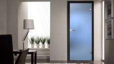 Дверь из стекла в доме