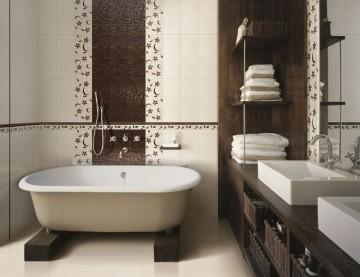 Современный дизайн плитки в ванной